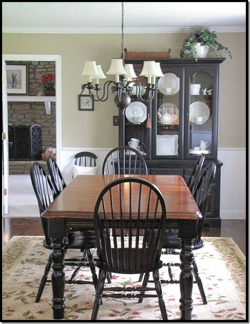 parade of homes and master bedroom reveal painted dining room tableblack - Black Kitchen Table