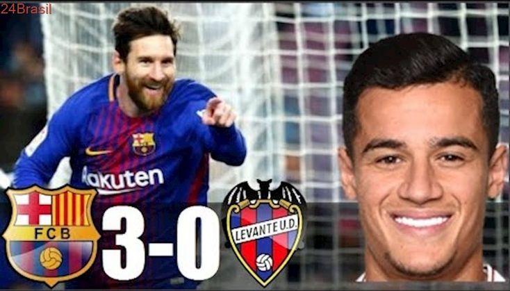 Barcelona 3 x 0 Levante - Melhores Momentos Completo em HD 720p - Campeonato Espanhol 07/01/2018