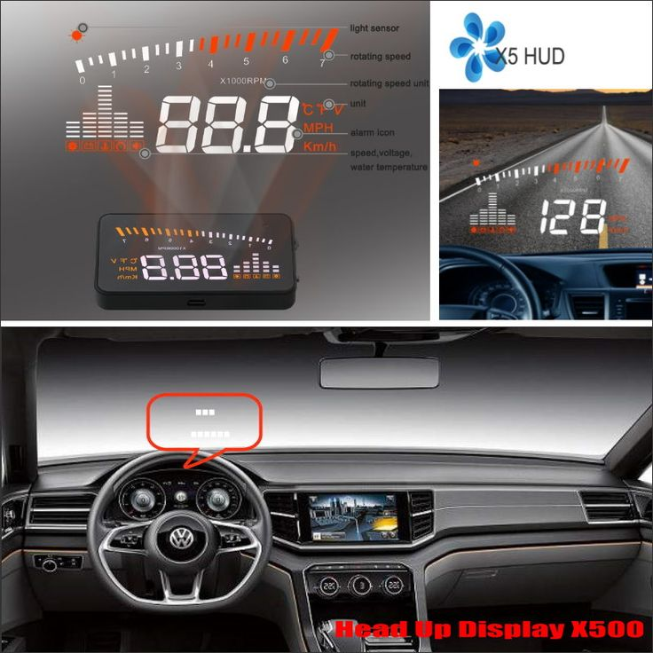 For Volkswagen Tiguan / Tourag 2015 2016 Car Head Up Display Saft Driving Screen Projector - Refkecting Windshield
