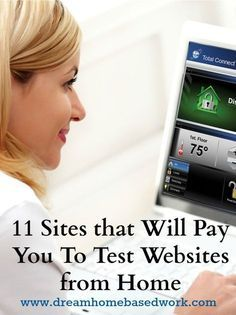 11 Companies that Will Pay You To Test Websites from Home | Dream Home Based Work - Legitimate Work at Home Ideas Money Making Ideas #Money WAHM Ideas #WAHM #workathom