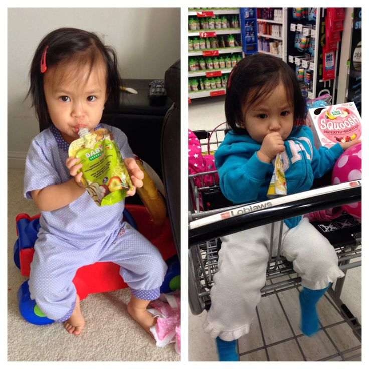 Reylyn's sweetie enjoys Baby Gourmet both at home and on the go!