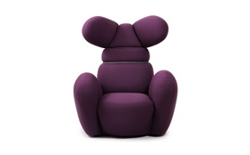 NORMANN COPENHAGEN: Bunny chair purple - available via http://www.tempoberlin.com