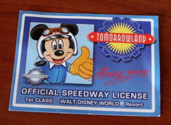 Be sure to have the kids ask for a driver's license after you ride the Tomorrowland Speedway in the Magic Kingdom!