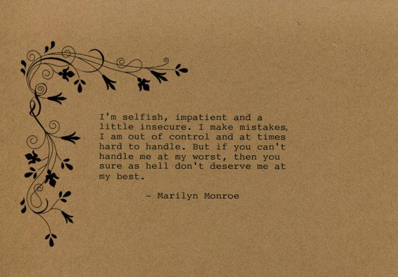 Marilyn Monroe Quote Made on Typewriter  by FlightOfFancyPrints
