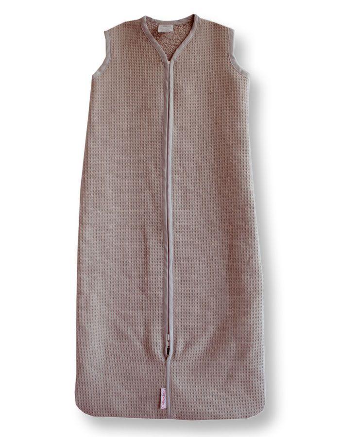 Cottonbaby wafel slaapzak bruin-80 cm uit de online shop van Babyaccessoires.eu