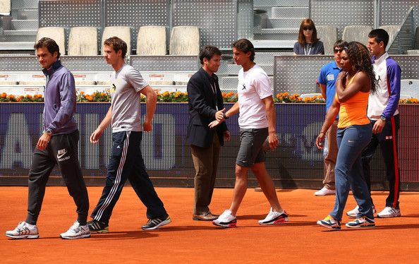 Serena being a boss. Hanging with the big boys Federer, Murray, Nadal, and Djokovic