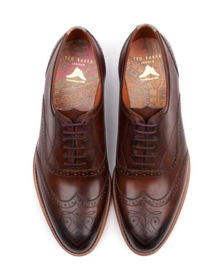 I  need these shoes. DELSIN - Chunky lace up brogue - Brown | Men's | Ted Baker UK