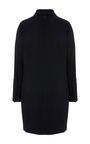 This **Partow** dress features a pointed collar, a tie at the neck, and full length sleeves.
