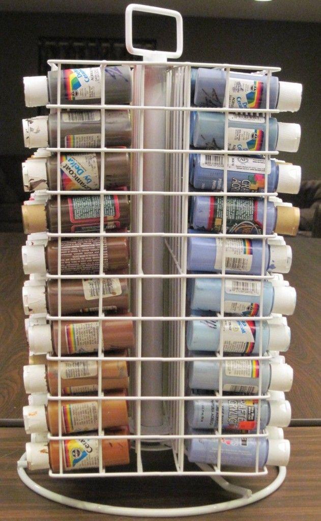 Craft Paint Storage Ideas Crafts Craft Paint Storage