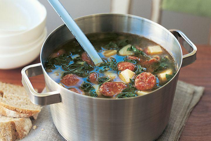 Chorizo and vegetable soup