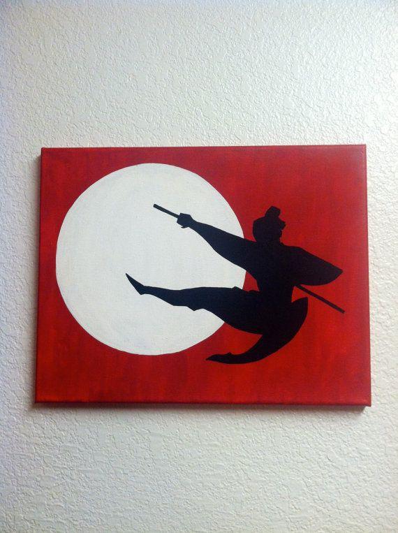 Disney Silhouette Painting  Mulan I'll Make A Man by EtchyDisney, $30.00