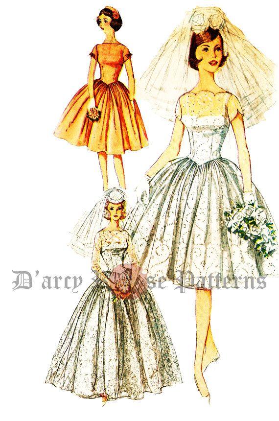 27 besten Vintage Wedding Dress Patterns Bilder auf Pinterest ...