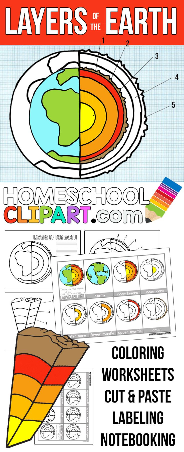 small resolution of Free Layers of the Earth Worksheets -   Homeschool science