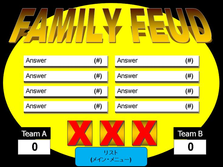 Make Your Own Family Feud Game with These Free Templates: One Round Family Feud PowerPoint Template