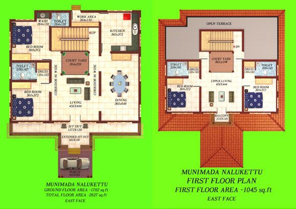 Munimada nalukettu 580 409 ideas for the for Modern nalukettu house plans