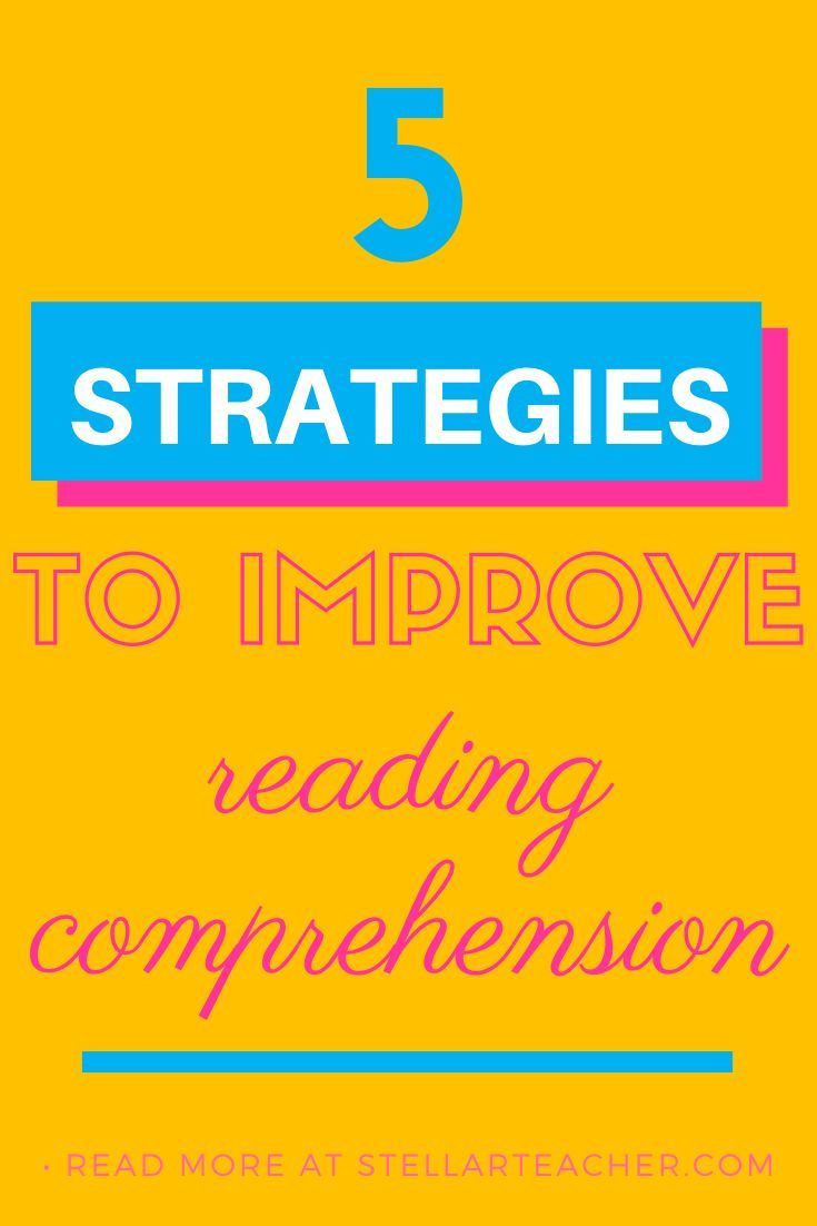 Improve Your Students Reading Comprehension With These 5 Strategies Improve Reading Comprehension Reading Comprehension Elementary Reading Strategies Improving reading comprehension in