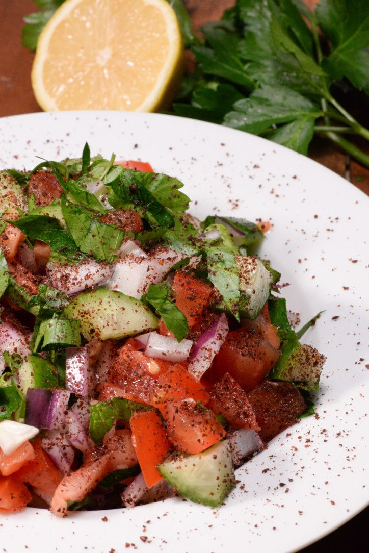 Iraqi sumac salad called summaq salad is your typical Arabic salad with the addition of the berry called sumac. This berry, native to the Middle East is a dark red berry that is dried and ground. The result is a lemony tasting tart spice that can be added to meats, vegetables and salad. ...