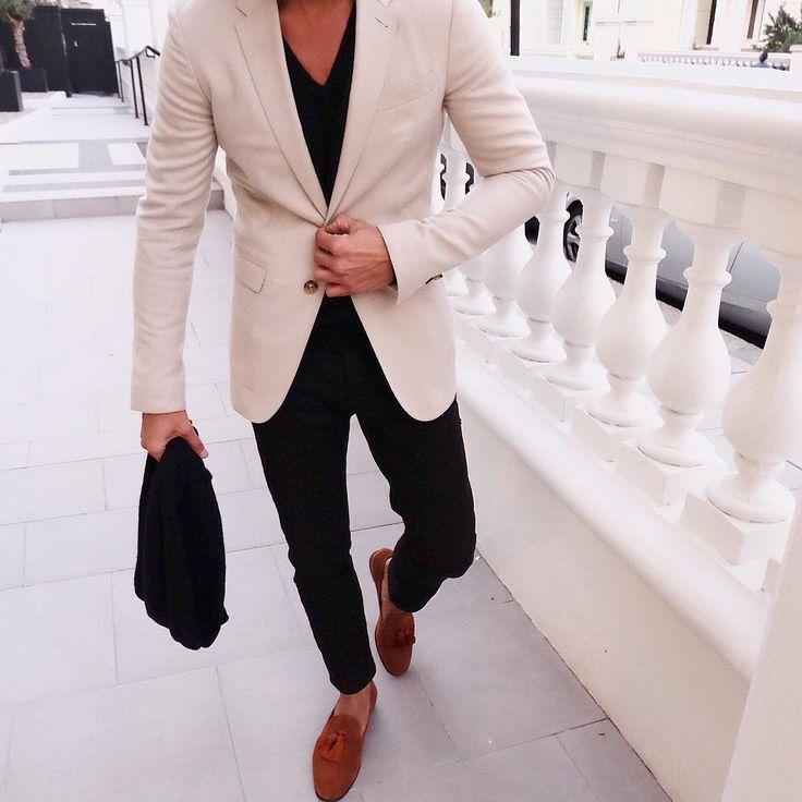 """Saturday combo Cream cashmere blazer X tan brown suede @superglamourous…"