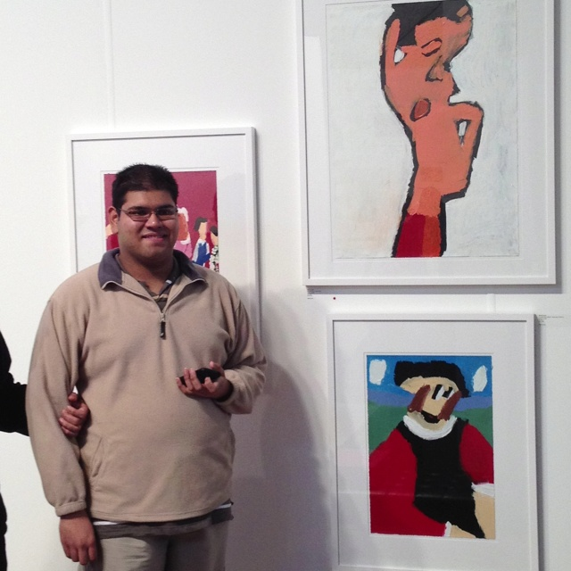 Patrick Francis with his fabulous artwork!