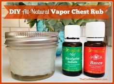 DIY Homemade Chest Vapor Rub using Young Living Raven and Eucalyptus Radiata Essential Oils. Easy to make, even a 4 year old can do it!! Perfect for fighting against viruses and more. #youngliving #oilyfamilies | TheConfidentMom.com