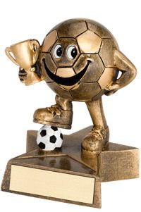 "4"" Resin Happy Soccer Trophy - Soccer Trophies - Soccer - Sports"