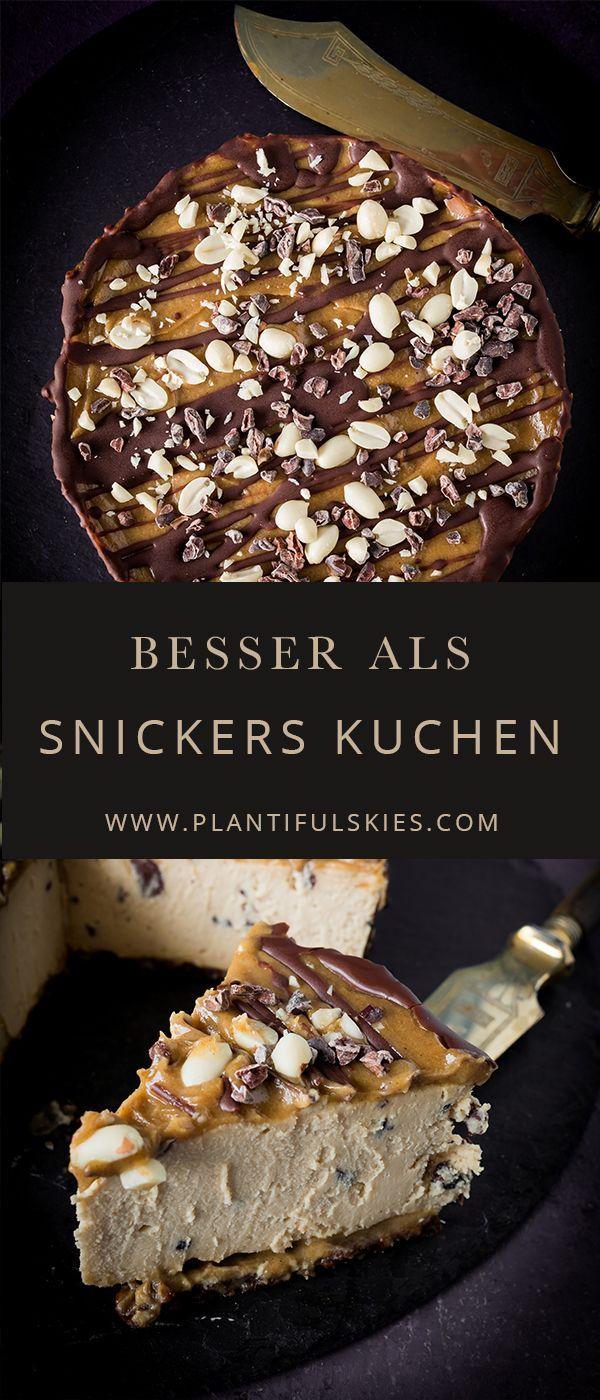 Roh, vegan und fermentiert. Dieser no Bake Snickers Kuchen ist das leckerste, das ich je gemacht habe. Rawcake mit Erdnussbutter und Karamell...einfach unglaublich, dass der vegan ist!
