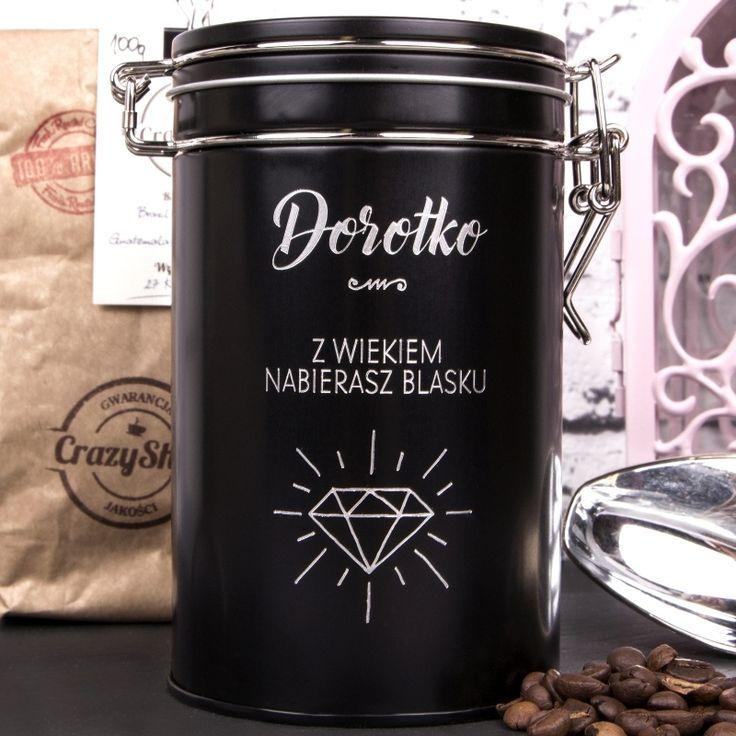 Kawa ziarnista w grawerowanej puszce DIAMENT
