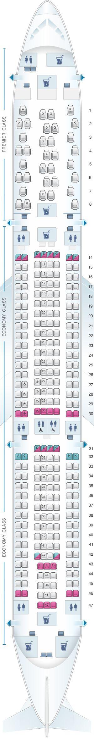 Seat Map Jet Airways Airbus A330 300 293PAX