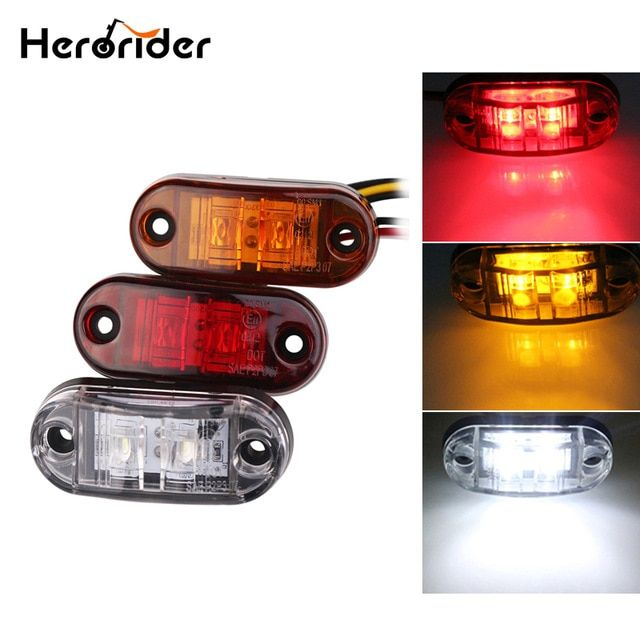 24v 12v Amber Led Side Marker Lights For Trucks Side Clearance Marker Light Clearance Lamp 12v Red White For Trailer Review Red And White Lamp Lights