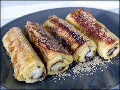 Gouter rapide et gourmand ! pain perdu roulé au nutella (ou à la confiture)