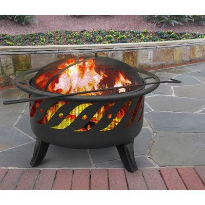 Landmann Patio Lights Wood Burning Fire Pit Color: Firewave Black