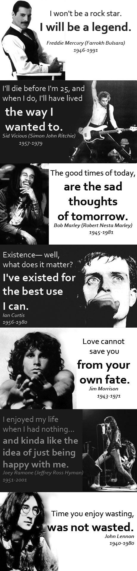Rock legends' quotes