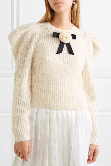 1470fdefe2841c Philosophy di Lorenzo Serafini - Bow-embellished knitted sweater |  Clothespo | Fall 2018, Fashion, Net a porter