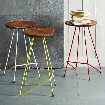 When every square inch counts in your house, these rounded stools with a hard edge help even more... tucking cleanly under any kitchen island / bar cart!