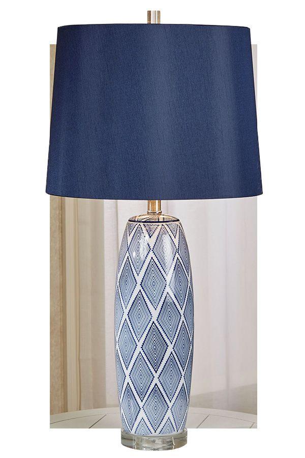 Acord Blue Diamonds Ceramic Table Lamp Ceramic Table Lamp Ceramic Table Lamps