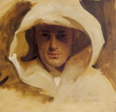 John Singer Sargent (American, 1856-1925), Portrait of Major George Conrad Roller, c.1892? Oil, 16.5 x 17 in. Private collection.