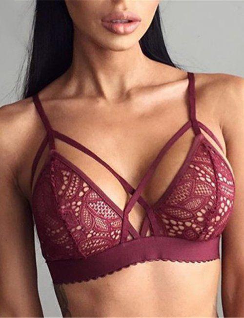 1d785fc228c70 Women s Sexy Strappy Crochet Bralette ღ