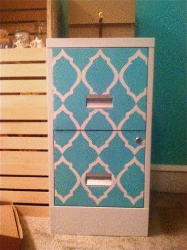 my DIY Filing Cabinet Makeover