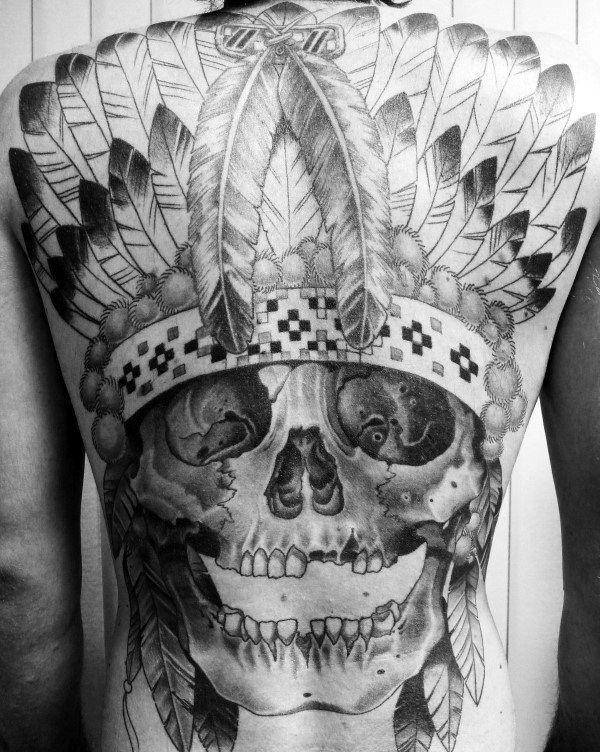 80 Indian Skull Tattoo Designs For Men Cool Ink Ideas Indian Skull Tattoos Skull Tattoo Indian Tattoo