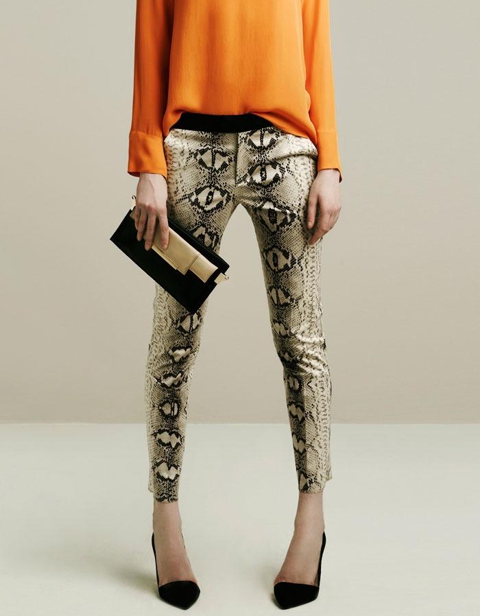 orange + snakeskin. #style