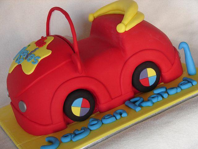 Wiggles cake by MyCakes.com.au. Love this Big red Car