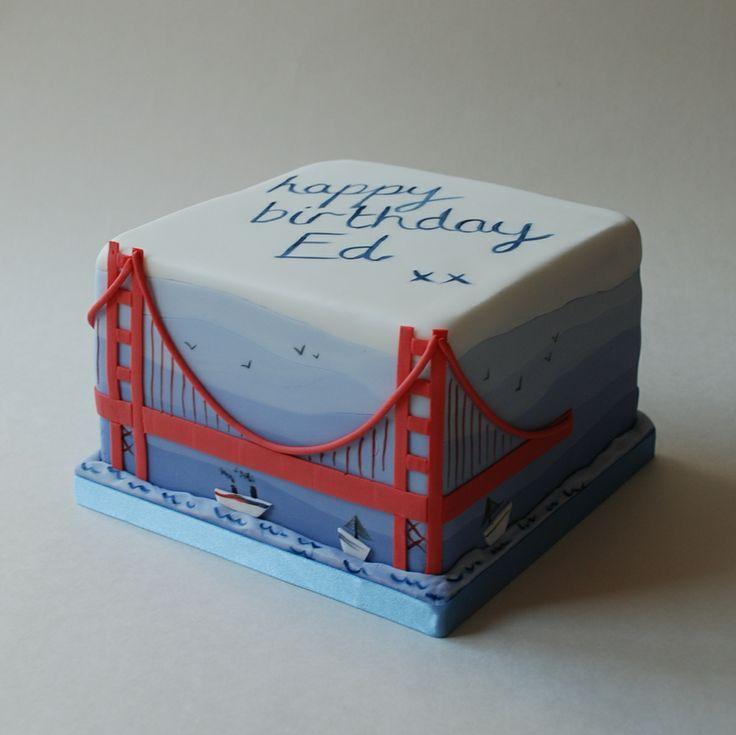 Golden gate bridge cake wedding jareds pinterest