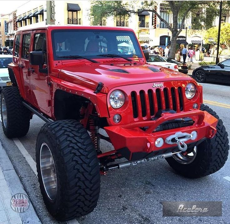 RED MODIFIED JEEP