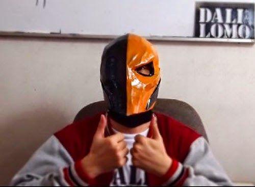 Dali-Lomo: Deathstroke Costume Mask DIY Cardboard (free PDF template)