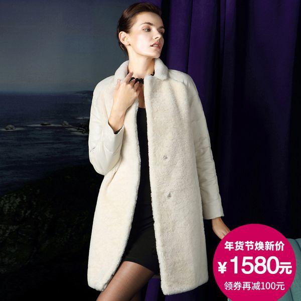 2016 новая кожа зимний мех стрижку овец овец бороться мех перо рукава пальто шерсти длинный отрезок