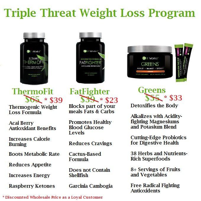 It Works Triple Threat Ultimate Weight Loss Program Doryrobbins.myitworks.com