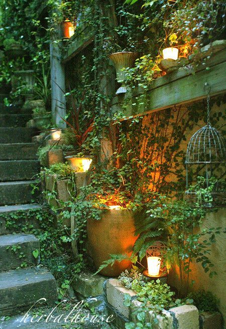 There was an area like this when I was a small child...at my Poppy's cousins house...only it was unused...I was facinated  by it...the area was unsed....this is what I would have done with it....a secret garden retreat!!!!