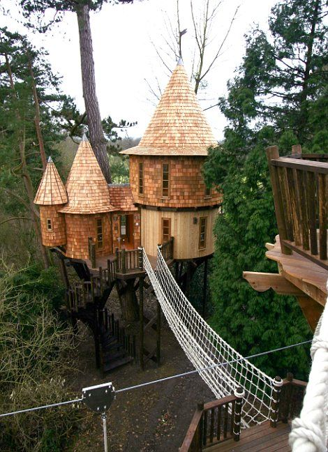 I'd love a tree house like this