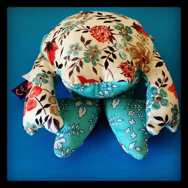 Gift frog from Liberty, #regenttweet 2012.  This now has pride of place in my bedroom.