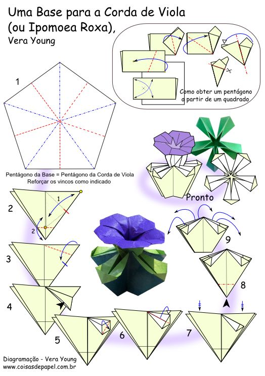 DIY Origami Violet Flower Tutorial
